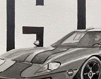 Ford GT40 Illustration