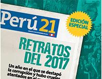 Suplemento RETRATOS DEL 2017 - Perú21