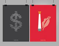 Carteles minimalistas de series de televisión