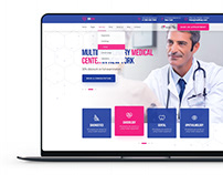 Website Design Template for Medical Centers