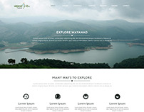 Wayanad Tourism - Website Re-design concept