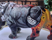 Amazing Spiderman Hand Painted Rhinos By RZP 2014