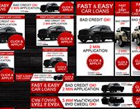 Canada Credit Company Google Adwords Banners Set