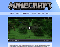 Minecraft Website Redesign