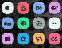 soacial media icons