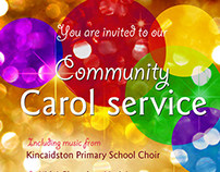 Carol service flyer