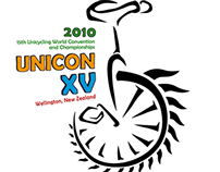 Unicon 15 world unicycling championships logo