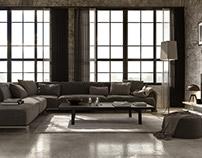 Interior living render Corona