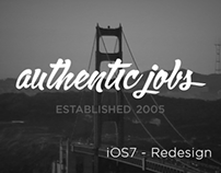 Authentic Jobs - iOS7 Redesign