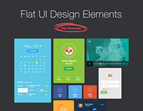Flat UI Design Elements  - Free Download