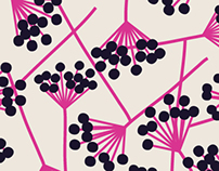 berries, pattern