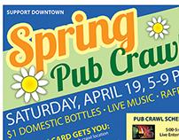 Spring Pub Crawl Poster