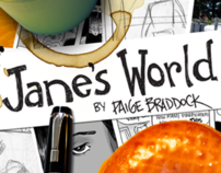 """JANE'S WORLD"" 10th Anniversary Book Cover"