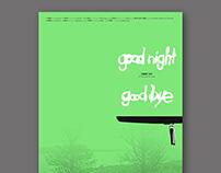 〈Goodnight & Goodbye〉movie poster