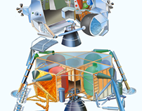 Lunar Module Cut-up Illustration