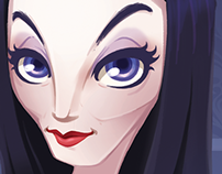 Morticia Addams - Girl Power Collab (Mother's Day)