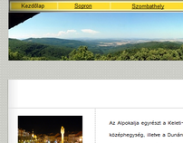 Szombathely and nearby it - webpage design