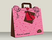 """Embalagem - Paper bag """"Dia dos Namorados"""""""