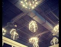 Pewter Glowing Globes