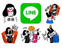 Line Stickers - Li Li And Her Friends