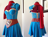 Bombshell Supergirl Costume Commission