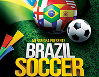 Brazil Soccer World Cup Flyer