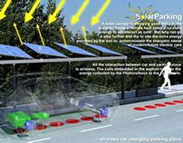 Wireless solar car charging