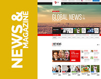 News and Magazine Web Template