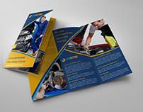 Car Repair Tri-Fold Company Brochure Template