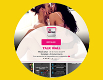 Design Landing Install app Talk Wall - hot version