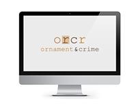 ORCR - Ecommerce Website