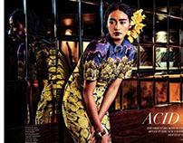 Acid Blossom-Fashion Editorial Verve Magazine May  '14