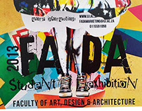Everything But Boring chosen Exhibition Poster (FADA)