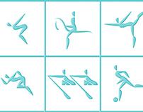 women's team pictogram
