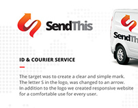 Sendthis - Responsive website for messenger service