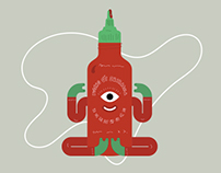 Sriracha & Yoga - Illustration