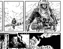 Coors Light comic page and storyboard.