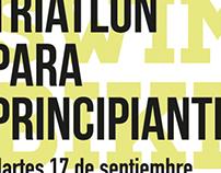 Triatlón para principiantes - cartel