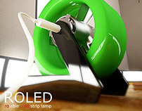 Rolable oled strip lamp