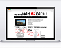 MAN VS EARTH Website