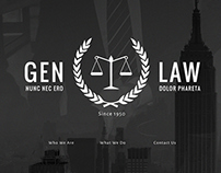 Gen Law Web Design Concept