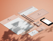 Stationary Mockup with Shadow