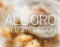 All'Oro - Restaurant website