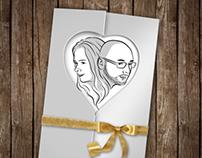 Szonja Krezinger & Gábor Kálmán wedding card