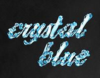 crystal blue - Font