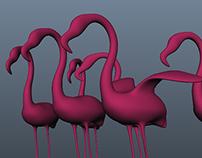 Flamingo Stage Props