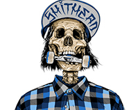 Hangover skull rider