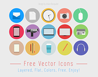 Freebie flat icons project