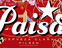 Etiqueta Cerveza Pilsen Feria de Flores 2011.