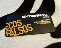 business card - Ecos Falsos